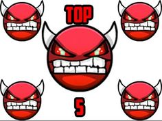 Top 5 Hardest Impossible Demons In Geometry Dash - YouTube