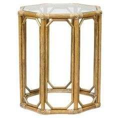 Check out this item at One Kings Lane! Tall Eloise Octagonal Side Table, Nutmeg