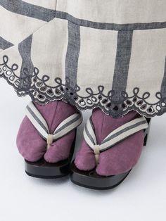 リネン足袋・紫   DOUBLE MAISON