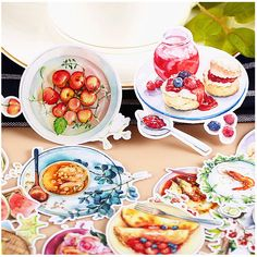 Food Stickers Creative Beautiful Self Made Office School Decorative Designs New #Unbranded