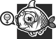 Fish Guy by mr Kepz, via Behance