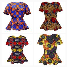 African Clothing African Print Shirt. Short by AllThingsAfrican1