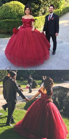 Formal Prom Dresses, quinceanera dresses burgundy wedding dress maroon ball gowns off the shoulder wedding gowns flower dresses for bride Brickell Bridal Xv Dresses, Flower Dresses, Prom Dresses, Burgundy Quinceanera Dresses, Bride Dresses, Sweet 16 Dresses, Pretty Dresses, Beautiful Dresses, Tulle Ball Gown