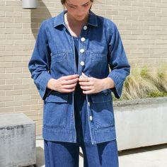 Mabel Jacket in Denim // Shop more Ilana Kohn in-store and online now!#WearVert