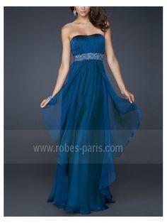 Robes de soirée H351 bleu clair