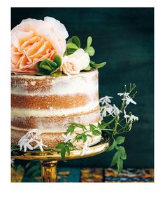 Naked modern wedding cakes that verge on...delicious