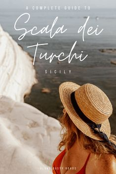 One of the most incredible sights on Sicily's southern coast, the Scala dei Turchi are a must-stop on any Sicily road trip. Find everything you need to plan your visit in this beautiful guide. Things to do in Sicily | Sicily Road Trip | Sicily Destination #ScalaDeiTurchi #Sicily #SicilyBeaches #Beaches #SicilyPhotogaphy
