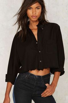 After Party by Nasty Gal Mystic Lady Button-Down Shirt - After Party   Fall Essentials   Utility Chic   Button Down   Tops
