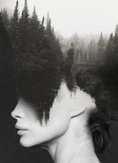 Double Exposure Portraits by Antonio Mora