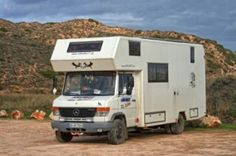 on Tour in Portugal Mercedes Vario, Mercedes Bus, Kombi Motorhome, Rv Campers, Cape Cod Camping, Pickup Camping, Big Van, Travel Camper, Expedition Truck
