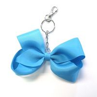 Cheer 1 1/2 Solid Looped Ribbon Bow Key Chain $2.00