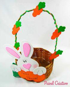 como fazer cesta pascoa coelhinho eva decorada (6)