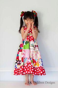 Rainbow Patchwork Dress.