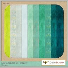 Life Changes - Papers by Giny Scrap : Scrap Art Studio, Where Creativity Soars