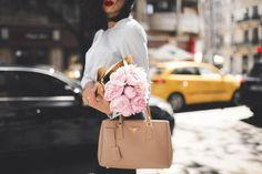 Peonies, a bow shirt & sassy street style look. — DYROGUE  Fashion Blogger Diana Rogo Wearing a Zara Top, Mermaid Skirt and Prada bag, in Bucharest. Bow Shirts, Mermaid Skirt, Prada Bag, Street Style Looks, Zara Tops, Hermes Birkin, Bows, Bucharest, Peonies