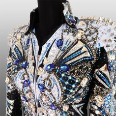 """""""Shiny Happy People"""" Rail Jacket, custom made for Chaney Getchell. Western Show Shirts, Western Show Clothes, Horse Show Clothes, Western Outfits, Western Wear, Western Jackets, Horse Clothing, Showmanship Jacket, Shiny Happy People"""