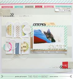 In The Mood To Scrap video tutorial using washi tape by @Janna Werner - Two Peas in a Bucket