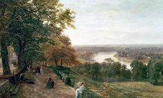 George Vicat Cole - Richmond Hill, London (1875)