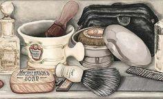Masculino Bathroom Prints, Bathroom Spa, Bathroom Colors, Laundry In Bathroom, Watercolor Paintings, Printable Paper, Printable Vintage, Printable Labels, Dorm Closet