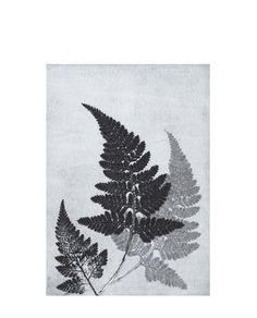 Print Fern bluegrey