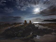Playa de LLastres,Colunga - Playa de LLastres en la bajamar