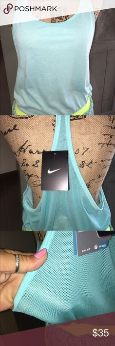 🌺 MARKDOWN🌺MWT NIKE TANK SIZE S/M🌺 🌺NWT NIKE COTTON AND MESh in size S/M  in aqua🌺 Nike Shorts