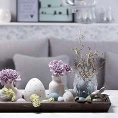 Ein hübsches Dekotablett zu Ostern ♥