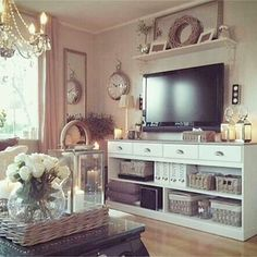 Neutral living room with subtle pops of color