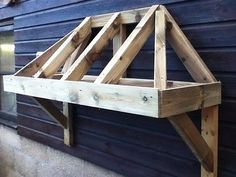 Timber Front Door Canopy Porch Bespoke Hand Made Porch & Timber Front Door Canopy Porch With Rubber Roof Bespoke Hand Made ... Pezcame.Com