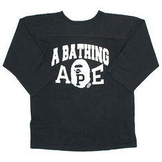 6926ecdaafab A BATHING APE Champion Full Logo Long Sleeve T-shirt BLACK M