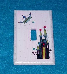 Hand Painted Princess Light Switch Plate by EssenceOfTheSouth, $23.50