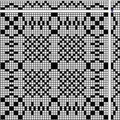 PROFILE DRAFT for Double Weave Table Runner (4 blocks to be woven on 16 shafts)