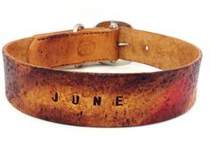 Items similar to Personalized Leather Dog Collar -Rugged Style on Etsy Dog Collars & Leashes, Leather Dog Collars, Rugged Style, Leather Conditioner, Collar And Leash, Dog Boarding, Dog Names, Vegetable Tanned Leather, Jewelry Shop