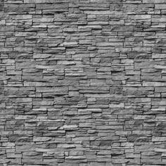 Fotobehang Vlies - Grijs - Stenen muur 280x400cm