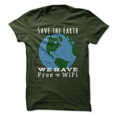 Earth Day - Save the Earth - We Have Free Wi-Fi! - for women tee. Earth Day - Save the Earth - We Have Free Wi-Fi! Hoodie Allen, Japon Street Fashion, Lace Sweatshirt, Cos Shirt, Sweater Pillow, Sweater Refashion, Geek Tech, Teacher Shirts, Bff Shirts