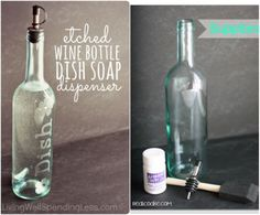 Wine Bottle Decorations Diy 37 Amazing Diy Wine Bottle Crafts  Dish Soap Dispenser Light