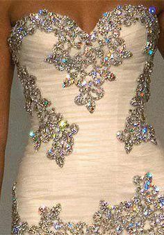 Not sure what the rest of the dress looks like, but this is nice bead work!