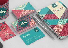 Gambar Contoh Desain Kartu Nama - Self Branding by Estudio Dharma Corporate Design, Graphic Design Branding, Stationery Design, Identity Design, Business Card Design, Visual Identity, Personal Identity, Design Corporativo, Design Visual