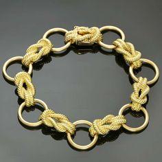 Rare 1970s HERMES Paris Yellow Gold Link Bracelet   From a unique collection of vintage link bracelets at http://www.1stdibs.com/jewelry/bracelets/link-bracelets/
