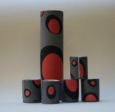slab built coloured porcelain