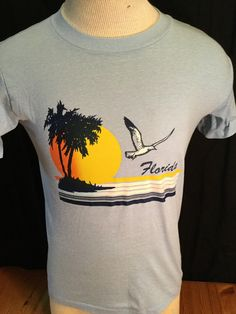 Vintage 1988 Tourist T-Shirt Surf Beach 50/50 size Large California by 413productions on Etsy