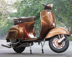 brown vespa, lovely colour