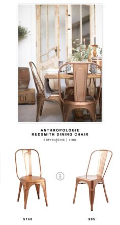 @anthropologie Redsmith Dining Chair $163 vs @wayfair Garvin Side Chair $189 for a set of two | Copy Cat Chic Look for Less