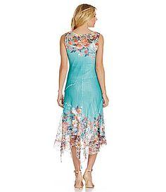 Komarov FloralPrint Chiffon Dress #Dillards
