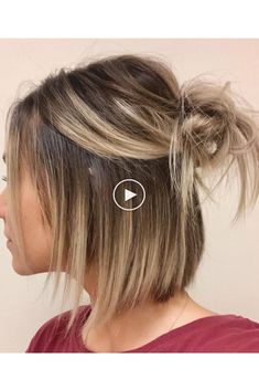 hair knot half up & hair knot ; hair knot half up ; hair knots for short hair ; hair knot bun half up ; Medium Bob Hairstyles, Short Hairstyles For Women, Easy Hairstyles, Hairstyle Ideas, Hair Knot Tutorial, Half Up Bun, Short Hair Bun, Fine Hair, Hair Inspiration