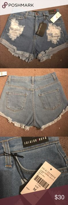 Longest summer denim shorts!!! Summers right around the corner!!! These super cute shorts are high waisted and have the perfect style and already sold out on the website!! I provided the size guide for bottoms from the website!! Fashion Nova Shorts Jean Shorts