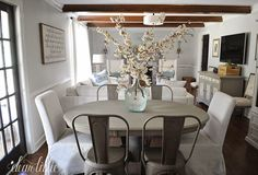 When we posted some pictures earlier this week of the flowers on the table we got quite a few questions about our new chairs. I am s...