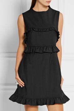 Black stretch wool-blend Concealed zip fastening along back 90% wool, 7% polyester, 3% elastane Dry clean