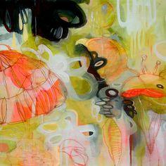 """Flourish""  16""x16"" Acrylic on canvas    © 2007 Yellena James"