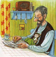 Illustration by Sven Nordqvist Alphonse Mucha, Trolls, Creation Photo, Nordic Art, Children's Book Illustration, Cat Art, Cute Drawings, Childrens Books, Illustrators
